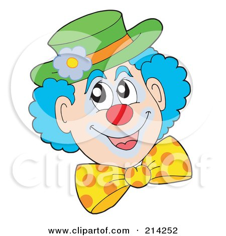 royaltyfree rf clown face clipart illustrations