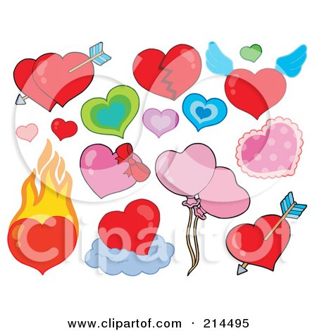 love heart pictures free. Digital Collage Of Love Hearts