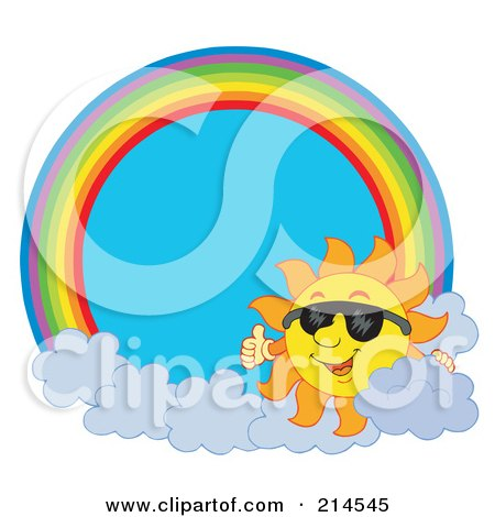 clip art sun with sunglasses. Royalty-free clipart picture