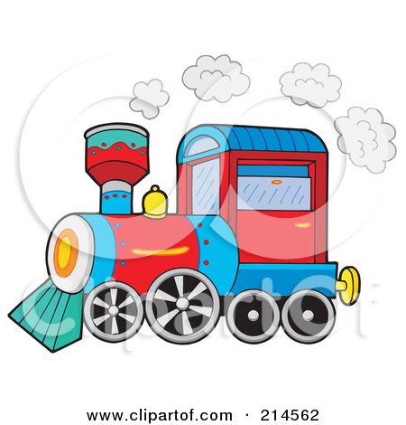 Royalty-Free (RF) Clipart Illustration of a Small Train by visekart