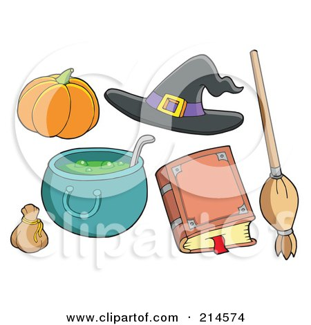 Royalty-Free (RF) Clipart Illustration of a Digital Collage Of Halloween Items - 7 by visekart