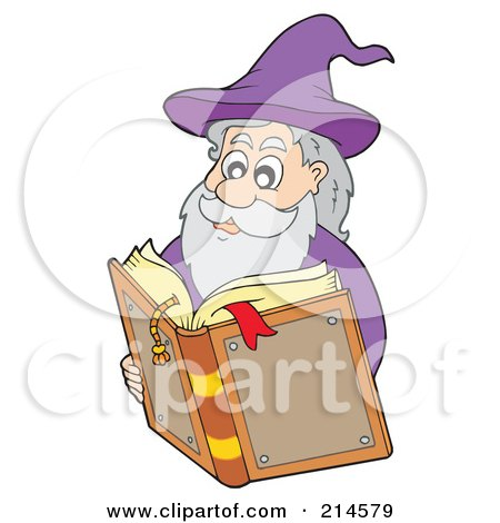 Clipart Cat Watching A Happy Alchemist Wizard Make A Spell ...