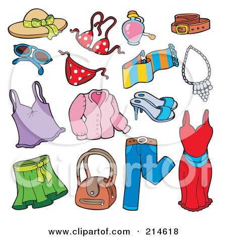 clipart of winter clothing apparel and accessories