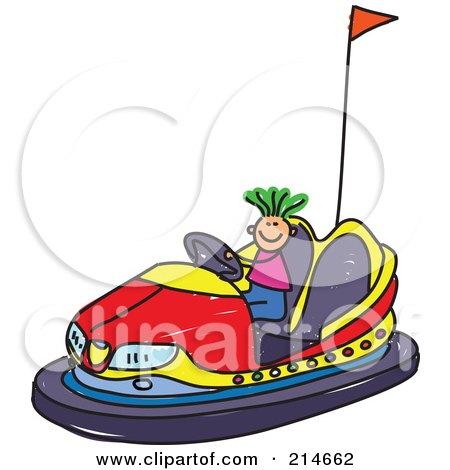 royalty free rf clipart of bumper cars illustrations vector rh clipartof com Carousel Clip Art bumper car drivers clipart