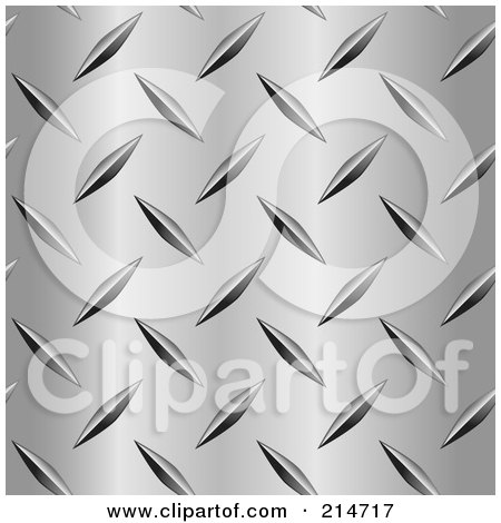 Royalty-Free (RF) Clipart Illustration of a Closeup Of A Diamond Plate Pattern by Cory Thoman