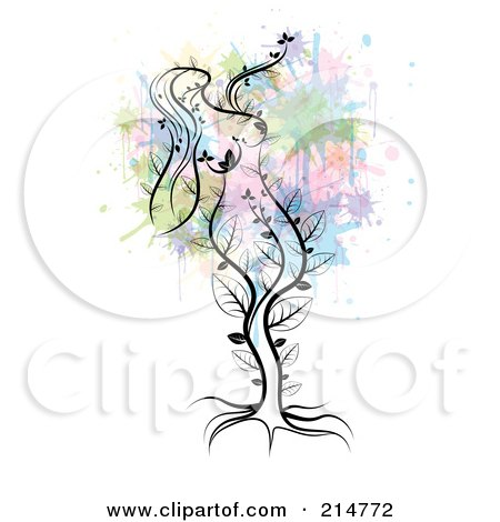 Royalty-Free (RF) Clipart Illustration of a Mother nature tree by MilsiArt