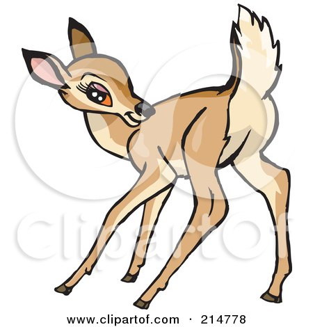 Baby Deer And Doe Clip Art