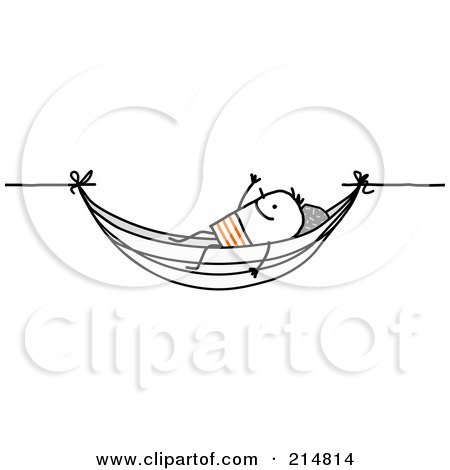 Royalty Free Rf Clipart Illustration Of A Stick Man