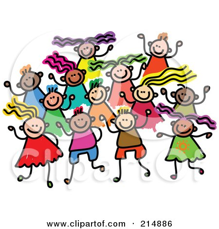 Royalty-Free (RF) Clipart Illustration of a Childs Sketch Of A ...