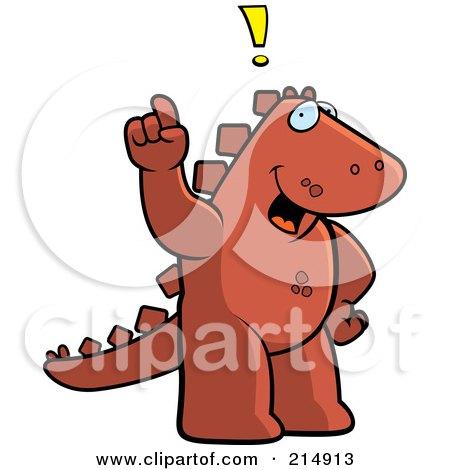 royalty free  rf  clipart illustration of a red dinosaur Shoulder Shrug Scrubs Clip Art