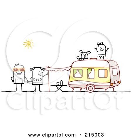 Family Camping Clip Art