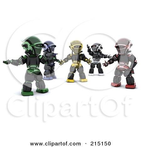 Group Of Diverse 3d Robots Posters, Art Prints