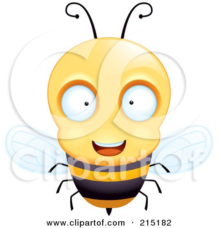 Royalty-Free (RF) Clipart Illustration of a Friendly And Curious Bee by Cory Thoman