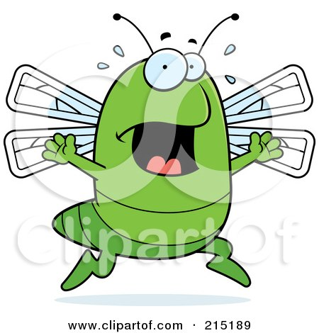 Royalty-Free (RF) Clipart Illustration of a Scared Dragonfly Panicking by Cory Thoman