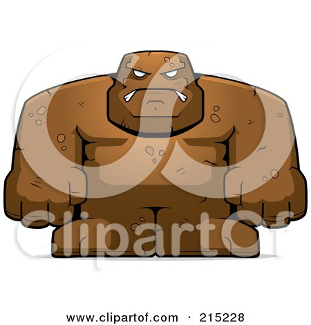 Royalty-Free (RF) Clipart Illustration of a Strong Mud Golem by Cory Thoman