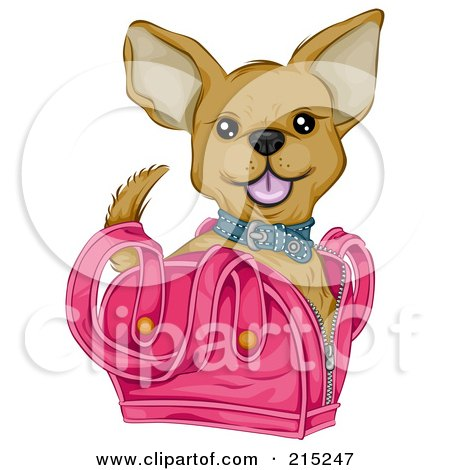 Cute Chihuahua In A Pink Bag Posters, Art Prints