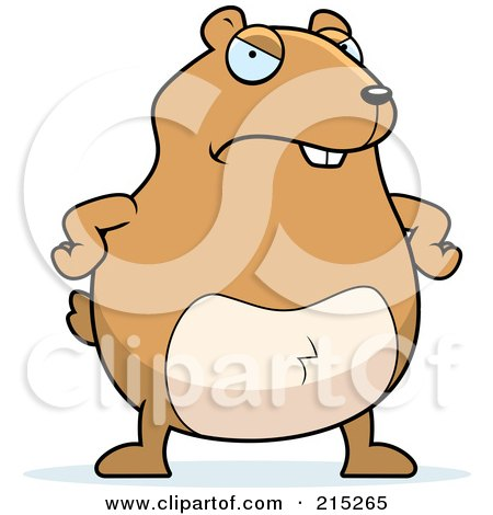 Royalty-Free (RF) Clipart Illustration of a Mad Hamster by Cory Thoman