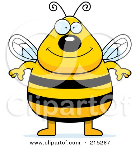 Royalty-Free (RF) Clipart Illustration of a Plump Bee Standing On His Hind Legs by Cory Thoman