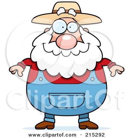 Royalty-Free (RF) Clipart Illustration of a Plump Senior Farmer by Cory Thoman