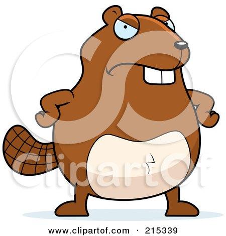 Royalty-Free (RF) Clipart Illustration of a Grumpy Beaver by Cory Thoman