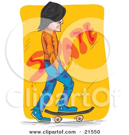 Royalty-Free (RF) Skateboarder Clipart, Illustrations, Vector ...