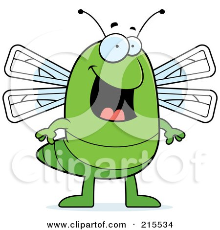 Royalty-Free (RF) Clipart Illustration of a Happy Dragonfly Standing by Cory Thoman
