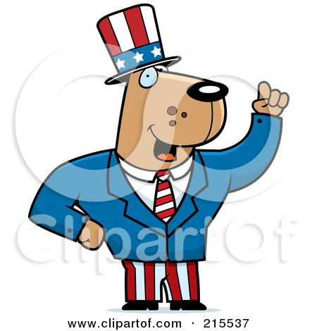 Royalty-Free (RF) Clipart Illustration of an Uncle Sam Dog In A Suit by Cory Thoman