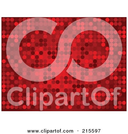 Royalty-Free (RF) Clipart Illustration of a Background Of Sparkly Red Dots On Red by KJ Pargeter