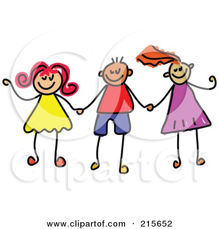 Girl   Holding Hands on Of A Childs Sketch Of Boys And Girls Holding Hands   2 By Prawny