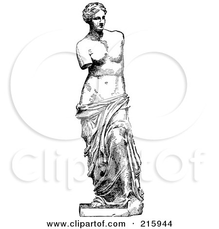 Royalty-Free (RF) Clipart of Aphrodite Of Milos, Illustrations ...