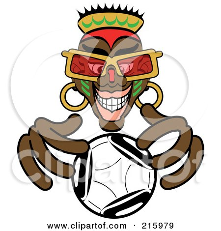 Royalty-Free (RF) Clipart Illustration of an African Fortune Teller Looking Into A Crystal Ball by Zooco