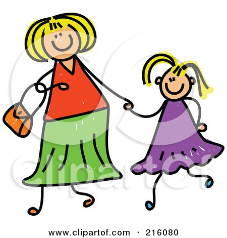 http://images.clipartof.com/small/216080-Royalty-Free-RF-Clipart-Illustration-Of-A-Childs-Sketch-Of-A-Mother-Holding-Hand-With-Her-Blond-Daughter.jpg