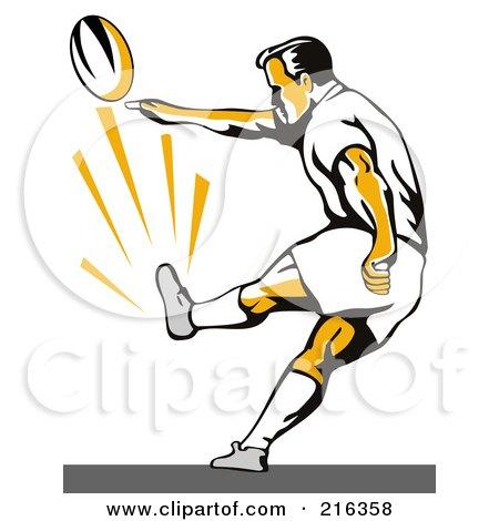 Royalty Free RF Kick Off Clipart Illustrations Vector