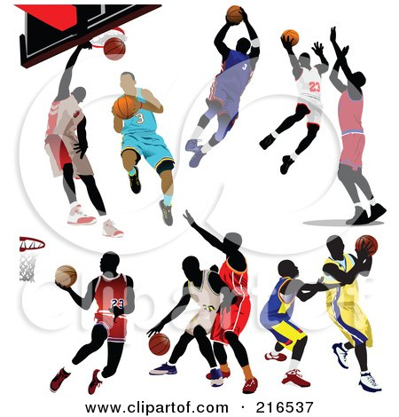royalty free rf clipart illustration of two basketball players in rh clipartof com basketball player clipart gif basketball player clipart free