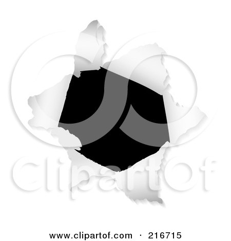 Royalty-Free (RF) Clipart Illustration Of A Black Hole And White Ripped Paper by michaeltravers