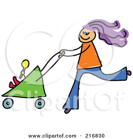 Royalty Free Baby Stroller Illustrations By Prawny Page 1