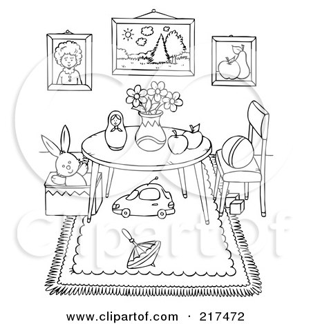 Kids Bedroom Coloring Page