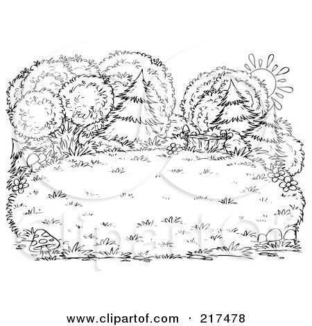 free coloring pages of bushes - photo#20
