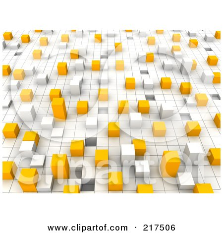 Royalty-Free (RF) Clipart Illustration of a 3d Background Of Bars On A Grid by Jiri Moucka