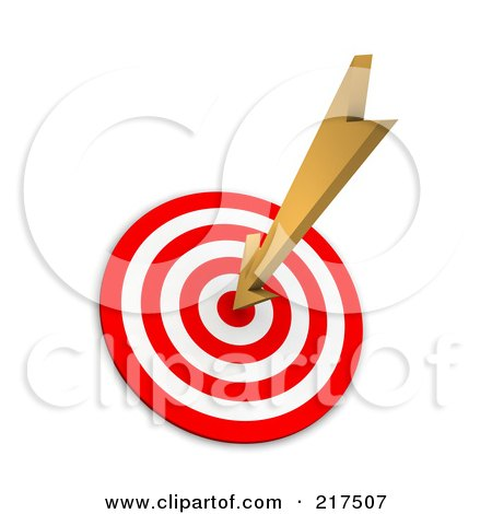 3d Arrow Sticking In A Bullseye Posters, Art Prints by Jiri Moucka ...