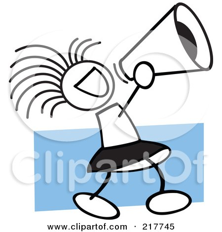 clipart black and white eagles cheerleader design royalty free rh clipartof com cheer megaphone clipart black and white
