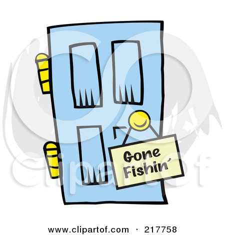 royalty free rf gone fishing clipart illustrations vector rh clipartof com gone fishing clipart free Funny Fishing Clip Art