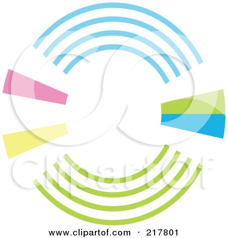 Royalty-Free (RF) Clipart Illustration of a Pastel Colored Design Element Or Logo - 5 by KJ Pargeter