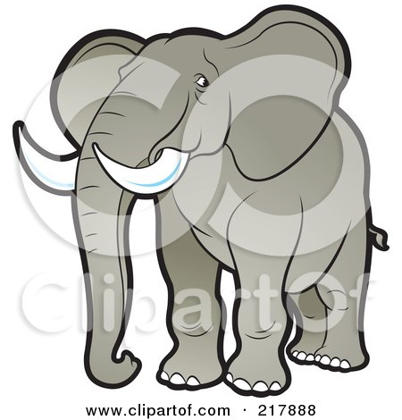 Royalty-Free (RF) Clipart Illustration of a Tan Elephant by Lal Perera