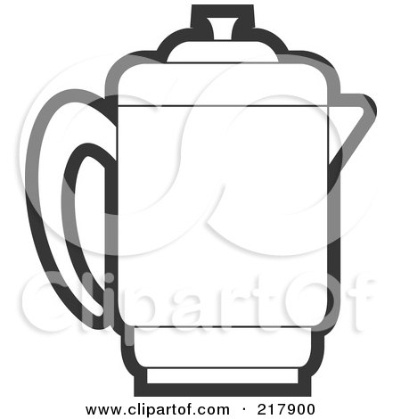 Royalty-Free (RF) Clipart Illustration of a Blue Pitcher by Lal ...