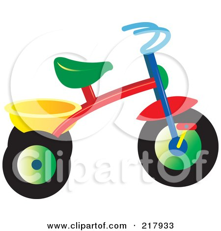 Royalty-Free (RF) Clipart Illustration of a Colorful Trike - 1 by Lal Perera