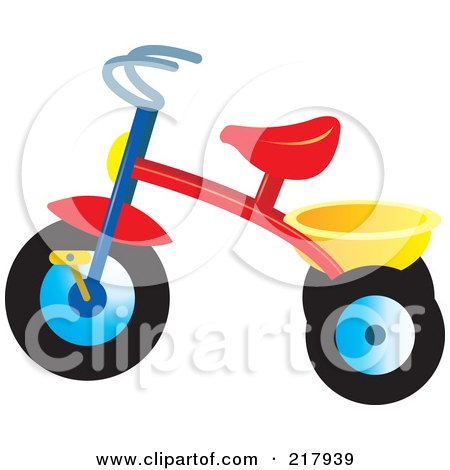 Royalty-Free (RF) Clipart Illustration of a Colorful Trike - 2 by Lal Perera