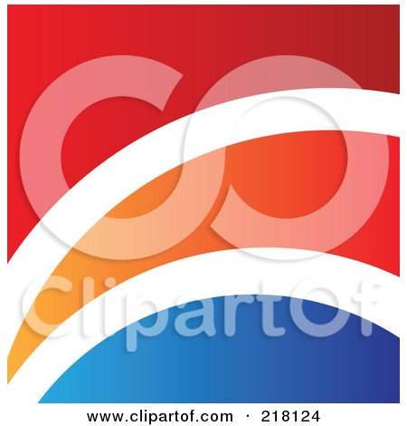 Royalty-Free (RF) Clipart Illustration of an Abstract Red, White, Orange And Blue Logo, Icon, Or Background by cidepix