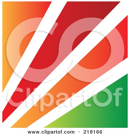 Royalty-Free (RF) Clipart Illustration of an Abstract Orange, White, Red And Green Logo, Icon, Or Background by cidepix