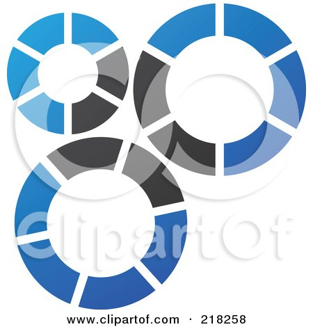 Royalty-Free (RF) Clipart Illustration of an Abstract Gear Logo Icon - 1 by cidepix